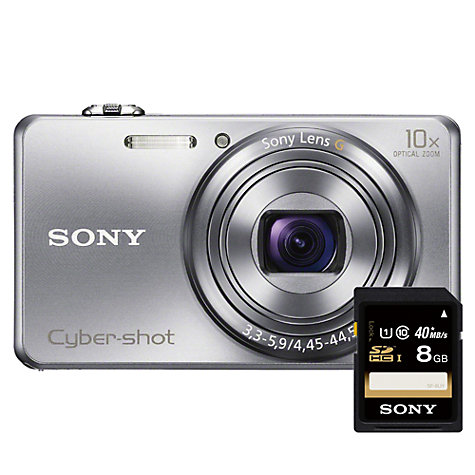"Buy Sony Cyber-shot DSC-WX200 Camera, HD 1080i, 18.2MP, 10x Optical Zoom, Wi-Fi, 2.7"" Screen with 8GB Card Online at johnlewis.com"