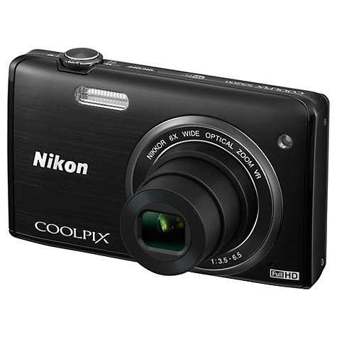 Buy Nikon Coolpix S5200 Digital Camera, HD 1080p, 16MP, 6x Optical Zoom, Wi-Fi, 3 LCD Screen Online at johnlewis.com