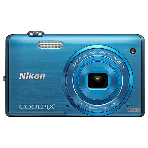 "Buy Nikon Coolpix S5200 Digital Camera, HD 1080p, 16MP, 6x Optical Zoom, Wi-Fi, 3"" LCD Screen Online at johnlewis.com"