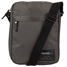 Buy Diesel Razzle Flight Bag, Khaki Green Online at johnlewis.com