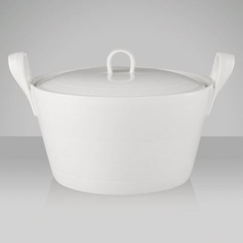 Buy Royal Doulton 1815 Round Casserole Dish, H15 x W30 x D25cm, White Online at johnlewis.com