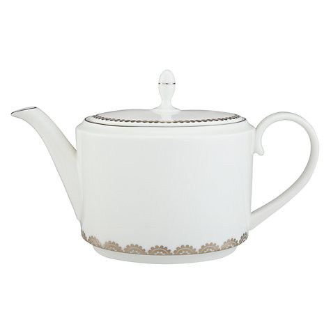 Buy Vera Wang for Wedgwood Flirt Teapot, 2L, Silver Online at johnlewis.com