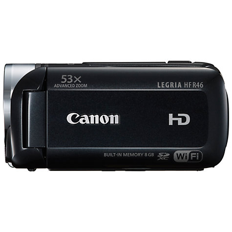 Buy Canon LEGRIA HF R46 HD 1080p Camcorder, 3.28MP, 32x Optical Zoom, 8GB,  Wi-Fi, 3 Touch Screen Online at johnlewis.com