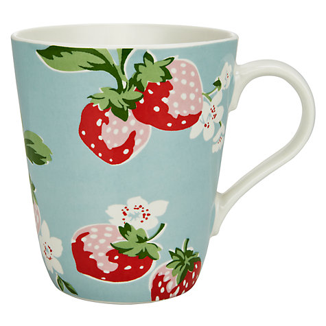 Buy Cath Kidston Strawberry Blue Mug, 0.5L Online at johnlewis.com
