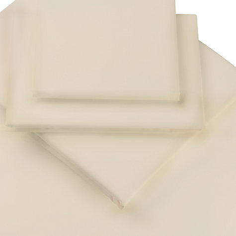 Buy John Lewis Polycotton Easycare Standard Pillowcase, Cream Online at johnlewis.com