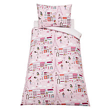 Buy little home at John Lewis Paris Single Duvet Cover and Pillowcase Set, Pink Online at johnlewis.com