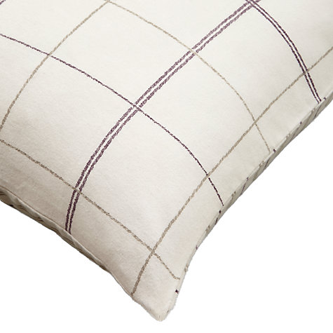 Buy John Lewis Rural Luxe Check Bedding, Cassis Online at johnlewis.com