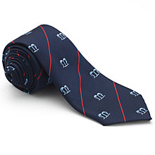 Buy St Mary's Catholic School Boys' House Tie, St. Anne Line, Navy/Red Online at johnlewis.com