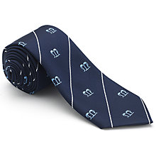 Buy St Mary's Catholic School Boys' House Tie, St. Maximilian Kolbe, Navy/White Online at johnlewis.com