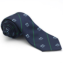 Buy St Mary's Catholic School Boys' House Tie, St. Joseph, Navy/Green Online at johnlewis.com