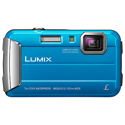 "Panasonic Lumix DMC-FT25EB-K Waterproof Camera, HD 720p, 16.1MP, 4x Optical Zoom, 2.7"" Screen"