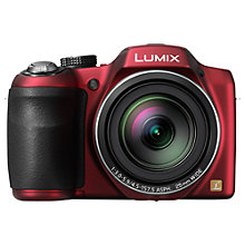 "Buy Panasonic Lumix DMC-LZ30E-K Bridge Camera, HD 720p, 16.1MP, 35x Optical Zoom, 3"" LCD Screen with 16GB + 8GB Memory Card Online at johnlewis.com"