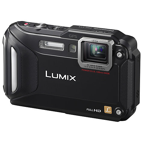 "Buy Panasonic Lumix DMC-FT5EB Waterproof Camera, HD 1080p, 16.1MP, 4.6x Optical Zoom, Wi-Fi, NFC, GPS, 3"" Screen Online at johnlewis.com"