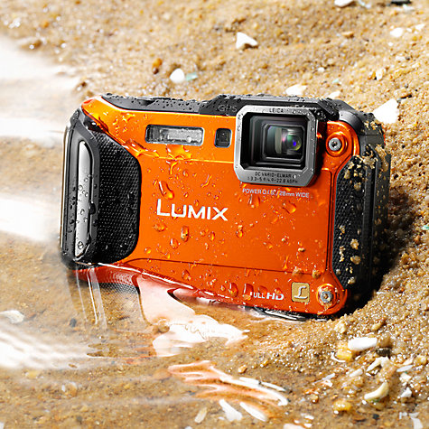 "Buy Panasonic Lumix DMC-FT5EB Camera, HD 1080p, 16.1MP, 4.6x Optical Zoom, Wi-Fi, NFC, GPS, 3"" Screen Online at johnlewis.com"