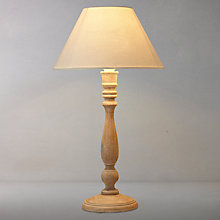 Buy John Lewis Rupert Rubbed Wood Table Lamp Online at johnlewis.com