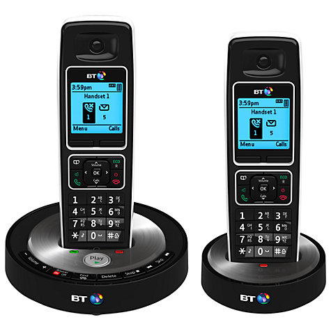 Buy BT 6510 Digital Telephone and Answering Machine with Nuisance Call Control, Twin DECT Online at johnlewis.com