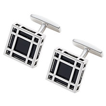 Buy Hugo Boss Henriko Enamel Square Cufflinks Online at johnlewis.com