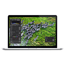 "Buy Apple MacBook Pro with Retina Display, ME664B/A, Intel Core i7, 2.4GHz, 256GB, 8GB RAM, 15.4"" Online at johnlewis.com"