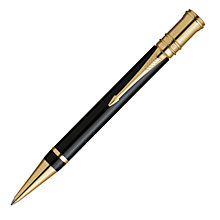 Buy Parker Duofold Gold Trimmed Ballpoint Pen, Black Online at johnlewis.com