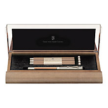 Buy Graf Von Faber-Castell Perfect Pencil Set, Brown/Chrome Online at johnlewis.com