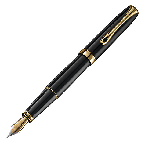 Buy Diplomat Excellence Fountain Pen, Black/Gold Online at johnlewis.com