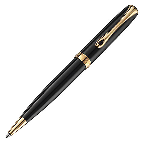 Buy Diplomat Excellence Ballpoint Pen, Black/Gold Online at johnlewis.com