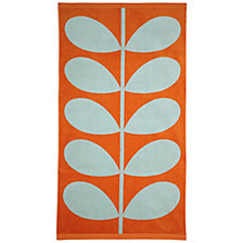 Buy Orla Kiely Stem Beach Towel, Aqua / Clementine Online at johnlewis.com