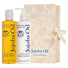 Buy Crabtree & Evelyn Jojoba Perfect Pair Body Lotion and Cream Set, 2 x 250ml Online at johnlewis.com