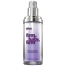 Buy Bliss Firm, Baby, Firm Lifting and Volumising Facial Serum, 30ml Online at johnlewis.com