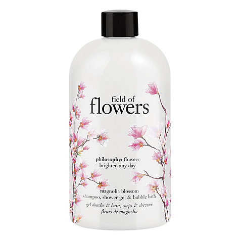 Buy Philosophy Field Of Flowers Magnolia Blossom Shampoo, Bath and Shower Gel, 480ml Online at johnlewis.com