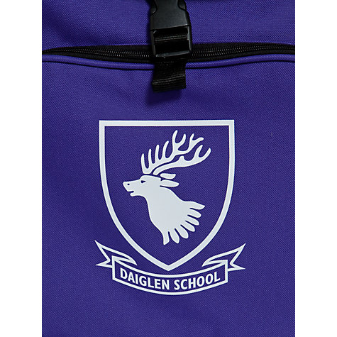 Buy Daiglen School Unisex Backpack, Purple Online at johnlewis.com