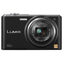 "Buy Panasonic Lumix DMC-SZ3 Digital Camera, HD 720p, 16.1MP, 10x Optical Zoom, 2.7"" LCD Screen, Black with Memory Card Online at johnlewis.com"