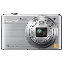 "Buy Panasonic DMC-SZ9 Digital Camera, HD 1080p, 16.1MP, 10x Optical Zoom, Wi-Fi, 3"" LCD Screen, Black with FREE Hard Camera Case, Red Online at johnlewis.com"
