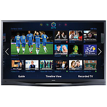 "Buy Samsung PS64F8500 Plasma HD 1080p 3D Smart TV, 64"", Quad Core with Freeview/Freesat HD and Voice/Motion Control with 2x 3D Glasses Online at johnlewis.com"