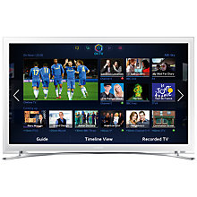"Buy Samsung UE22F5410 LED HD 1080p Smart TV, 22"" with Freeview HD, White Online at johnlewis.com"