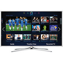 "Buy Samsung UE46F6510 LED HD 1080p 3D Smart TV, 46"" with Freeview/Freesat HD, Voice Control and 2x 3D Glasses, White Online at johnlewis.com"