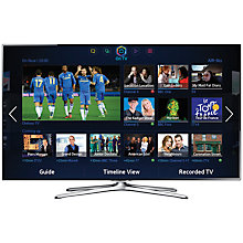 Buy Samsung UE55F6500 LED HD 1080p 3D Smart TV, 55 Inch with Freeview/Freesat HD, Voice Control and 2x 3D Glasses with FREE Sound Bar Online at johnlewis.com