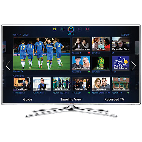 "Buy Samsung UE40F6510 LED HD 1080p 3D Smart TV, 40"" with Freeview/Freesat HD, Voice Control and 2x 3D Glasses, White Online at johnlewis.com"