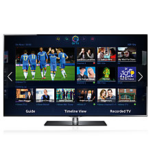 "Buy Samsung UE40F6740 LED HD 1080p 3D Smart TV, 40"" with Freeview/Freesat HD and Voice Control with 2x 3D Glasses Online at johnlewis.com"
