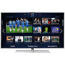 Buy Samsung UE40F7000 LED HD 1080p 3D Smart TV, 40, with 2x 3D Glasses, Sound Bar & FREE Blu-ray Player Online at johnlewis.com