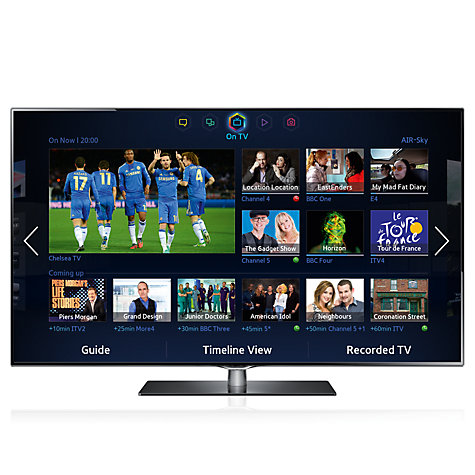 "Buy Samsung UE46F6740 LED HD 1080p 3D Smart TV, 46"" with Freeview/Freesat HD and Voice Control with 2x 3D Glasses Online at johnlewis.com"