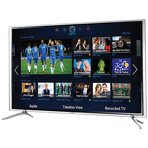 "Buy Samsung UE46F6800 LED HD 1080p 3D Smart TV, 46"" with Freeview/Freesat HD, Voice Control and 2x 3D Glasses Online at johnlewis.com"