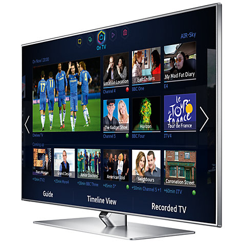 "Buy Samsung UE55F7000 LED HD 1080p 3D Smart TV, 55"" with Freeview/Freesat HD and Voice/Motion Control with 2x 3D Glasses Online at johnlewis.com"