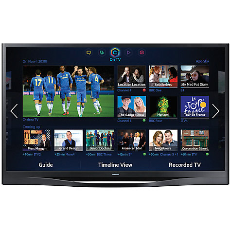 "Buy Samsung UE55F8500 LED HD 1080p 3D Smart TV, 55"", Quad Core with Freeview/Freesat HD and Voice/Motion Control with 2x 3D Glasses Online at johnlewis.com"