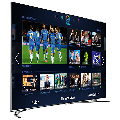 "Buy Samsung UE65F8000 LED HD 1080p 3D Smart TV, 65"", Quad Core with Freeview/Freesat HD and Voice/Motion Control with 2x 3D Glasses Online at johnlewis.com"