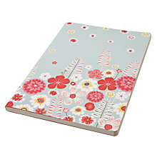 Buy John Lewis Wild Flower A4 Notebook, Aqua Online at johnlewis.com