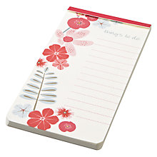 Buy John Lewis Wild Flower To-do List Online at johnlewis.com