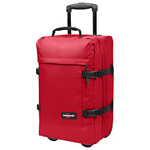 Buy Eastpak Tranverz Small 2-Wheel Holdall, Chuppachop Red Online at johnlewis.com