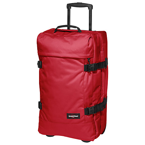 Buy Eastpak Tranverz Medium 2-Wheel Holdall, Chuppachop Red Online at johnlewis.com