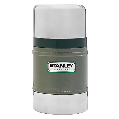 Stanley Classic Vacuum Food Flask, Hammertone Green, 0.5L